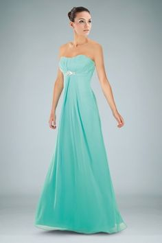 graceful-bridesmaid-dress-in-aline-silhouette-with-shiny-brooch-and-ruches