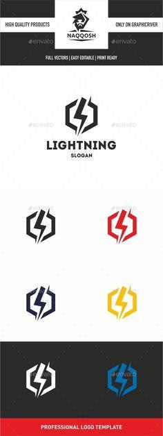 Lightning Logo — Vector EPS #target #storm • Available here → https://graphicriver.net/item/lightning-logo/10465330?ref=pxcr