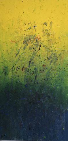 sonniges Feld in Blau Painting, Art, Abstract, Blue, Art Background, Painting Art, Paintings, Kunst, Drawings