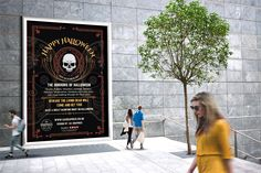 HALLOWEEN 2017 – Outdoor poster display for Halloween 2017 presented on a public street. #graphicdesign #advertising #marketing #printout #poster #largeposter #outdoordisplay #banner #Halloween #HalloweenParty