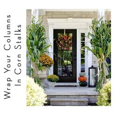 Today we are sharing 8 ideas for creating fall curb appeal. Many of these easy steps will take your homes from fall into the holiday season.