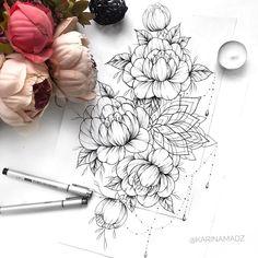 A imagem pode conter: 1 pessoa diy tattoo images - tattoo images drawings - tattoo images women - ta Diy Tattoo, Tattoo Fonts, Hand Tattoo, Leg Tattoos, Cool Tattoos, Mandela Tattoo, Tatuagem Diy, Beautiful Flower Tattoos, Lace Flower Tattoos