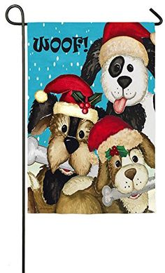 Evergreen Suede Christmas Dogs Garden Flag 125 x 18 inches -- This is an Amazon Affiliate link. Be sure to check out this awesome product.