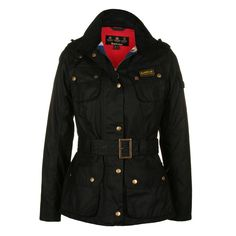 Barbour Womens International Union Jack Lining Waxed Jacket