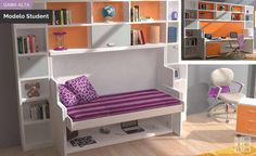 Mesa abatible horizontal con mesa abatible incorporada http://www.mueblestejeda.es