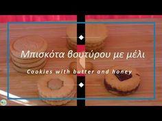 Μπισκότα βουτύρου με μέλι (Butter cookies with honey) - YouTube Cookies, Honey, Butter, Youtube, Biscuits, Cookie Recipes, Preserve, Youtubers, Youtube Movies