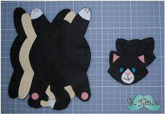 Eu Amo Artesanato: Porta copo de gatinho com molde