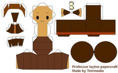 DIY Professor Layton figure. I must do this!