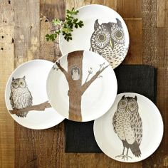 Owl dishes!
