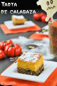 Tarta de calabaza (se puede usar camote)con base de masa quebrada con copos de avena de L'Exquisit.