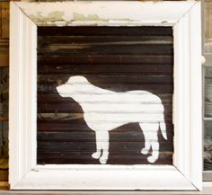 My Sweet Savannah: ~thrifty thursday project~ make a painted silhouette of your dog!