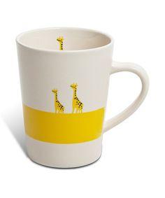 Take a look at this Yellow Giraffe 6-Oz. Mug by Miya Company on #zulily today! $14 !!