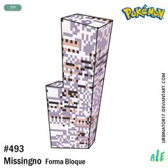 Missingno forma bloque by on DeviantArt Oc Pokemon, Pokemon Red Blue, Glitch, Red And Blue, Messages, Deviantart, Raven, Style, Swag