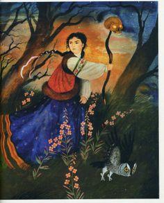 "Alexander Koshkin illustration for ""Vasilisa the Beautiful""."
