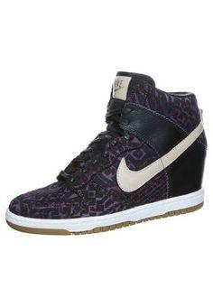 Nike Sportswear DUNK SKY HI - Enkellaarsjes met sleehak - Zwart - Zalando.nl