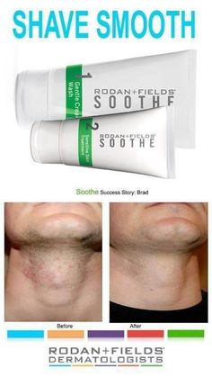 "Men who suffer from razor burn see bump free skin after shaving with ""Soothe"" https://www.facebook.com/GiddyupRodanFields"