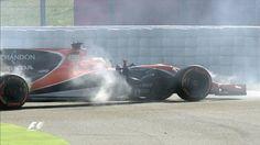 GP España F1 2017: Desastre de McLaren Honda: Alonso dura dos curvas - Marca.com