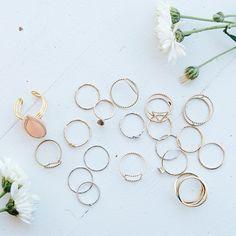rings n things #rings #gold #silver #dainty