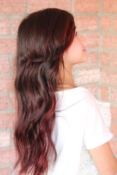 Soft red ombre