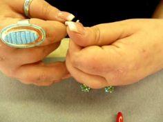 How to Make Easy Swarovski Crystal Hoop Earrings - from Turquoise-String...