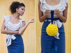 yellow pomander balls for flower girls