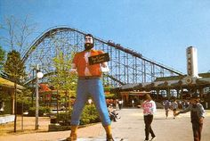 Paul Bunyon in front of the Comet-Crystal Beach Amusement Park in Canada