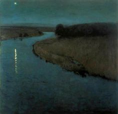 fuguette: Eugen Bracht, The Morning Star in the New Year's Eve, 1899 Moonscape, Night Painting, Night Landscape, Art Painting, Landscape Paintings, Art Photography, Moonlight Painting, Night Art, Landscape Art