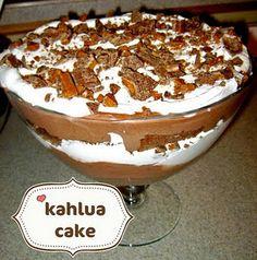 Kahlua Cake-gotta try it before I start my diet!