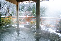 Japanese Hot Spring bath. I so want this!