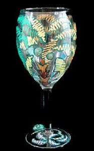 Party Palms Design Hand Painted Grande Wine Glass by Bellissimo. $34.95. For generations of pleasure and enjoyment, hand washing is recommended for all Bellissimo! merchandise.. All Bellissimo! merchandise is exquisitely hand painted using an exclusively formulated non-toxic paint.. Every product is thoroughly inspected to meet our strict quality control criteria, and then fired twice to insure durability.. Bellissimo! is the manufacturer of America's Premier Hand...