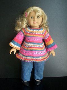 BEGINNER level KNITTING PATTERN for American Girl 18 inch Doll. $2.99, via Etsy.