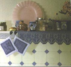 Ago-Works Butterfly: Filet Crochet Shelf-Scarti con i modelli