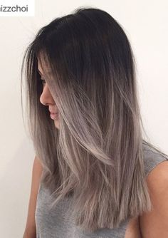 New Style Grey Ombre Haarfarbe Trend für dunkle Haare Hairstyles 2018 New Style Gray Ombre Hair color trend for dark hair Ombre Hair Color, Hair Color Balayage, Brown Hair Colors, Gray Ombre, Ash Balayage, Pastel Ombre, Hair Colour, Ash Ombre Hair, Pink Color