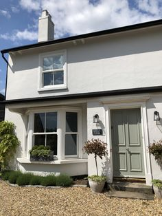The Renovation of Millwater – Part II 1930s House Exterior, Terrace House Exterior, Cottage Exterior, Bay Window Exterior, Rendered Houses, Country Cottage Interiors, Cottage Porch, Home Exterior Makeover, Edwardian House