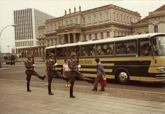 Goosestepping, East Berlin, East Germany, 1980, photograph by J. R. Jenks.