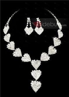 Elegant Clear Crystals Wedding Bridal Jewelry Set-(Including Necklace,earring) GG3071