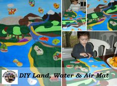 """Making Montessori Ours"": Make a Land Water & Air Mat"