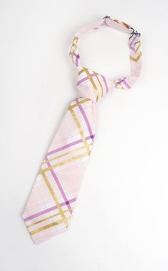 Purple and gold plaid necktie, boys purple plaid tie, purple and gold tie, purple gold tartan tie, purple toddler tie, ring bearer outfit