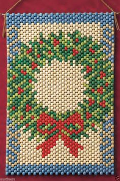 Winter Wreath Beaded Banner Kit The Beadery Craft Products 5901