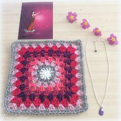 Plaid - Granny square - Granny Love Challenge - Mon Trico'côtier - Aglaé - Crochet - Blanket Babyblanket