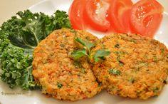 Veganana: Hamburguer sem Gluten com Arroz e Cenoura