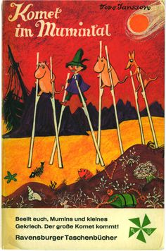 """""""Komet im Mumintal"""",  Otto Maier Verlag (Germany 1970),  Softcover, cover (c) Lilo Fromm"""