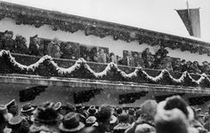 Adolf Hitler greets the crowd during the Games' opening ceremonies. Today the...