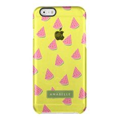Cute Watermelons Pattern Clear iPhone 6/6S Case