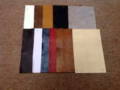 BRRM6   Package of 15 leather cowhide remnants by oneway52 on Etsy, $18.75
