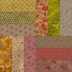 Roman Square Quilt Block Pattern