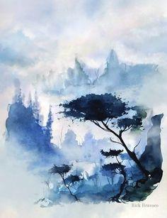 Valley of Blue, Rick Bravoco on ArtStation at https://www.artstation.com/artwork/rOnJa
