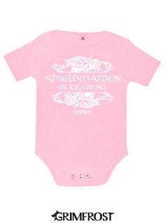 Grimfrost - Baby Bodysuit, Shieldmaiden, Pink
