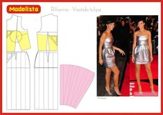 Rihanna - Vestido Tulipa