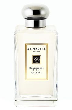 Jo Malone Blackberry & Bay Cologne.  Childhood memories of blackberry picking, stained lips, sticky palms. A burst of deep, tart blackberry juice, blending with the freshness of just-gathered bay and brambly woods. Vibrant and verdant.
